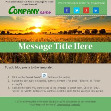 Email Template: Farmer