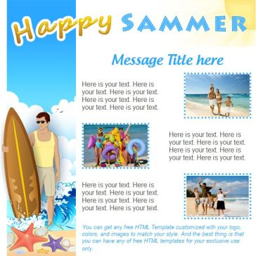 Email Template: Happy sammer