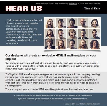 Email Template: Hear us