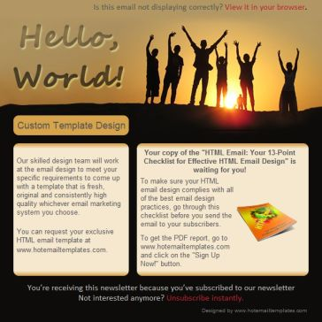 Email Template: Hello World!