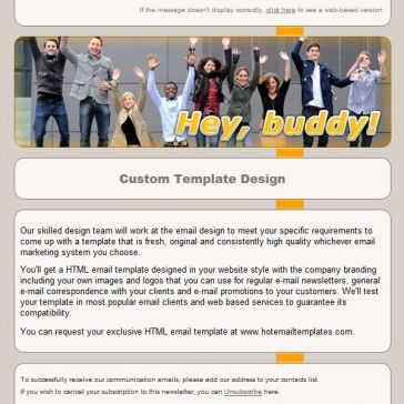 Email Template: Hey Buddy!