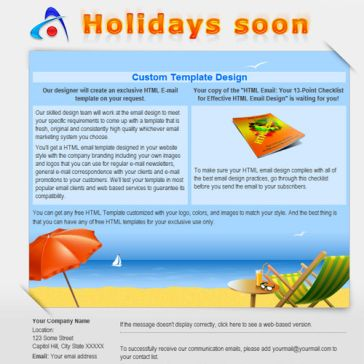 Email Template: Holidays soon