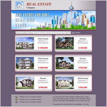 Email Template: Homes For Sale