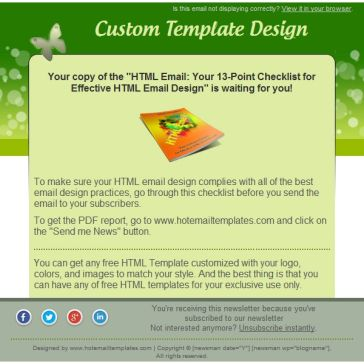 Email Template: Insect