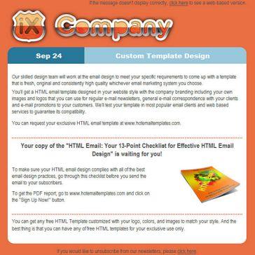 Email Template: iX company