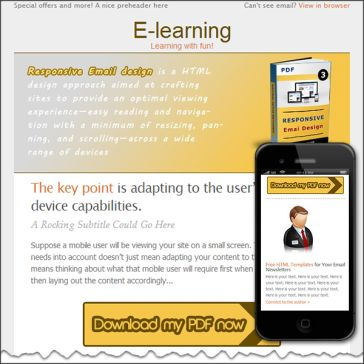 Email Template: E-learning