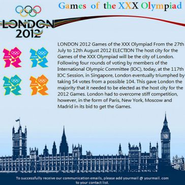 Email Template: London – 2012