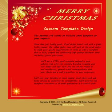 Email Template: Merry Christmas