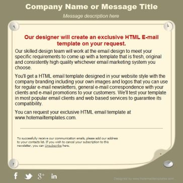 Email Template: Memo