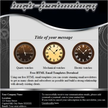 Email Template: High Technology
