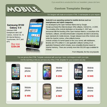 Email Template: Mobile Shop