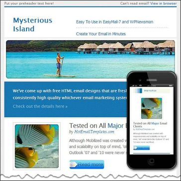 Email Template: Mysterious Island