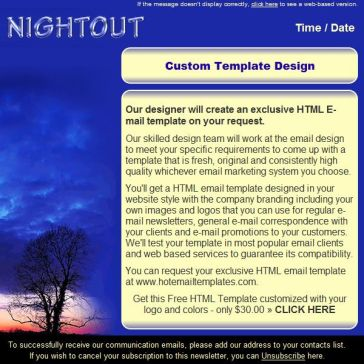 Email Template: Nightout