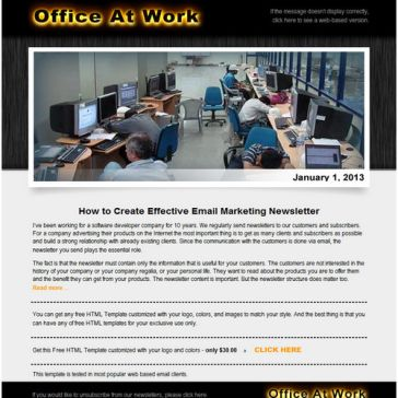 Email Template: Office at work