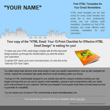 Email Template: Old Town