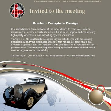 Email Template: Club old cars