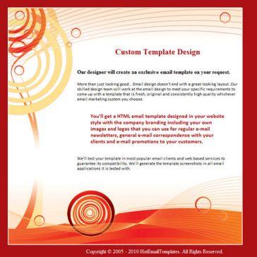 Email Template: Orange Art
