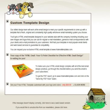 Email Template: Pets