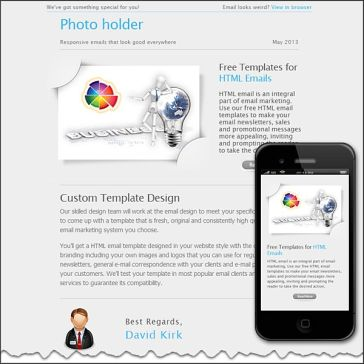 Email Template: Photo holder
