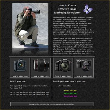 Email Template: Photographer