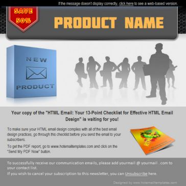 Email Template: Product presentation