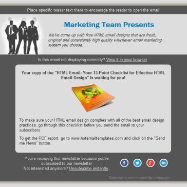 Email Template: Profi Team