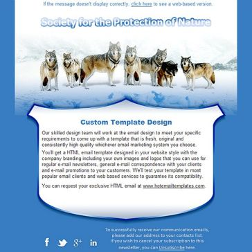 Email Template: Protection of Nature