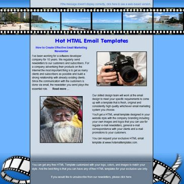 Email Template: Realistic film