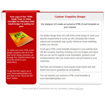 Email Template: Red and White