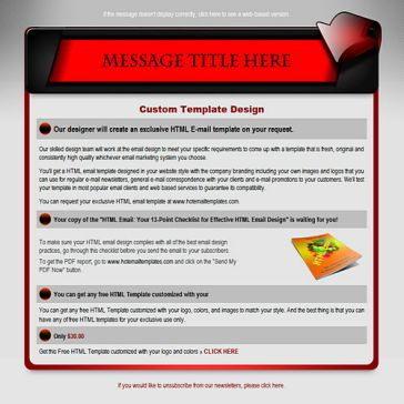 Email Template: Red banner