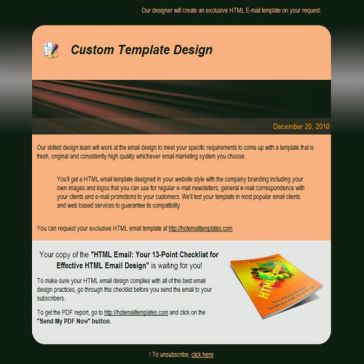 Email Template: Red beam