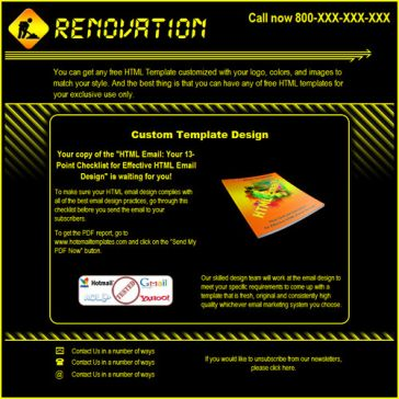 Email Template: Renovation