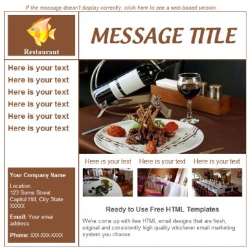 Email Template: Restaurant