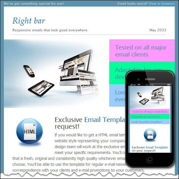 Email Template: Right bar