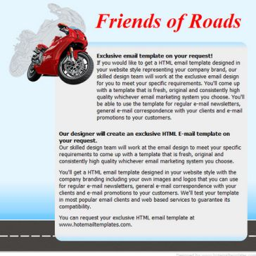 Email Template: Roadstead