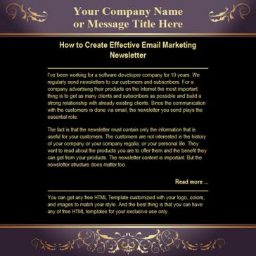 Email Template: Royal