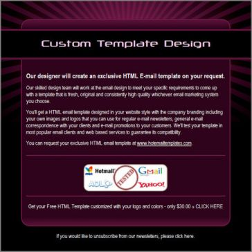 Email Template: Ruby Ray