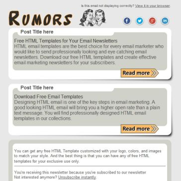 Email Template: Rumors