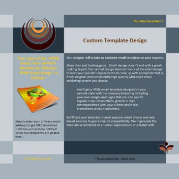 Email Template: Strong Gray