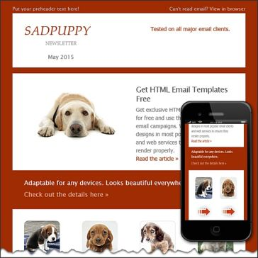 Email Template: Sadpuppy