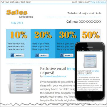 Email Template: Sales solutions