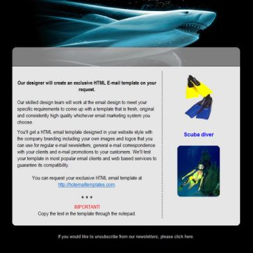 Email Template: Scuba diving