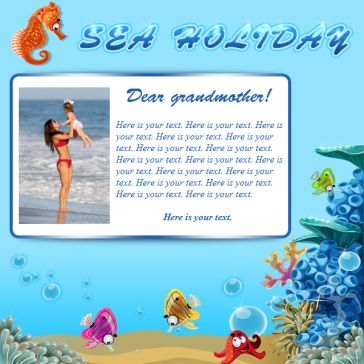 Email Template: Sea Holiday