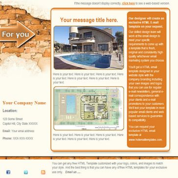 Email Template: Shabby Wall