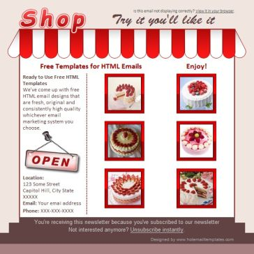 Email Template: Tasty Shop