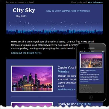 Email Template: Sity sky
