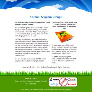 Email Template: Sky & Grass