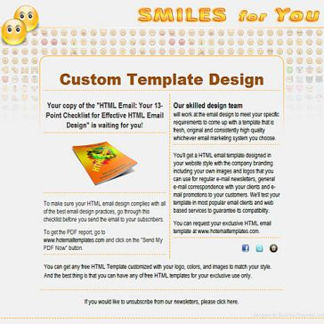 Email Template: Smiles for You