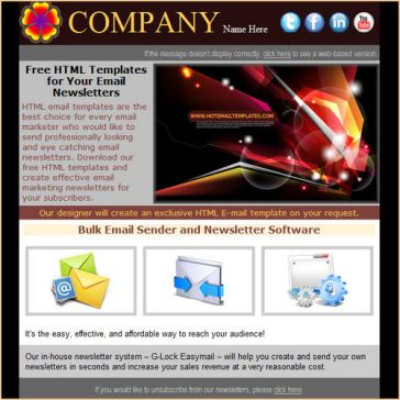 Email Template: Software shop