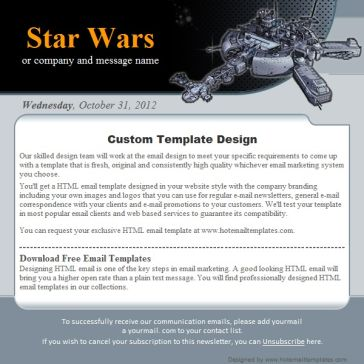 Email Template: Star Wars